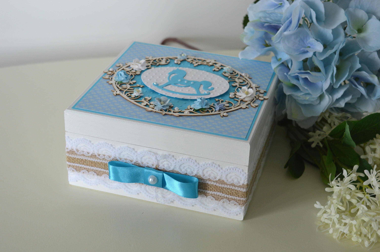 baby boy wooden box baby boy keepsake box baby memory box. Black Bedroom Furniture Sets. Home Design Ideas