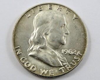 U.S. 1962 D Franklin Half Dollar.
