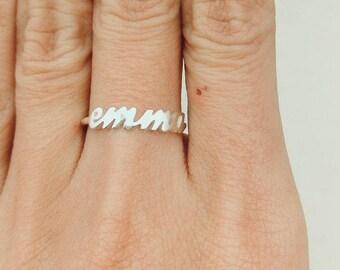 Rose Gold Name Ring, Dainty Name Ring, Initial Ring, Stacking Ring, Name Ring, Personalized Ring, Personalized Gifts, Custom Name Ring, Gift
