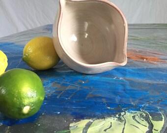 Wheel Thrown Lemon Bowl