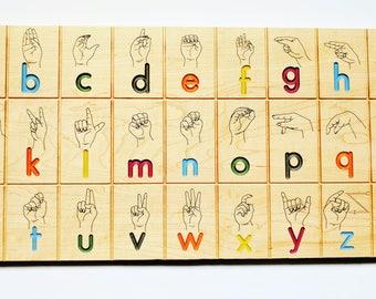 American sign language alphabet board, ASL