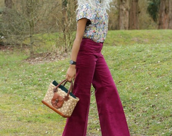 Trousers 70s - wide and flared cut