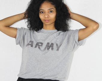 Vintage Army T-Shirt Size Small | Vintage Military | US Army | Vintage Tee