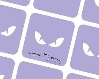 Evil Eyes Nail Vinyls - Nail Stencil for Nail Art