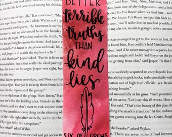 Terrible Truths Bookmark - Six of Crows