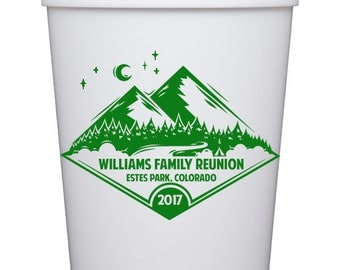 Personalized Stadium Cups -Family Reunion in Mountains  {16 oz}