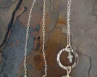 Pale Blue Seafoam Sea Glass Necklace