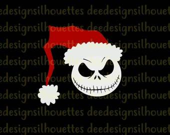 Jack Skellington Santa The Nightmare Before Christmas SVG PNG cut file CRICUT only