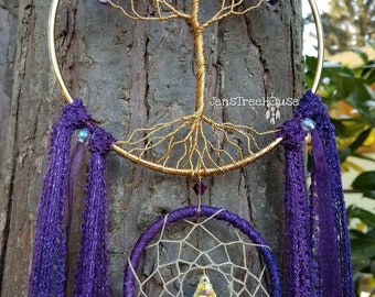 Amethyst Tree of Life Dream Catcher/Wall Hanging/Room Decor