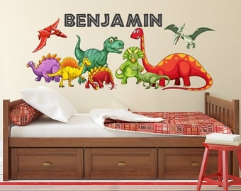 Dinosaur Wall Decal | Etsy