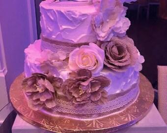 Wood Cake Stand, Custom Carved Wedding Cake Stand, Wood Rustic Cake Stand, Wood Cake Stand, Personalized Cake Stand, Country Wedding decor