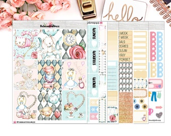 Alice Planner Stickers / Erin Condren Vertical Weekly Stickers / Full Kit