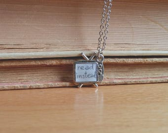Read instead. Necklace.