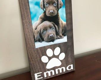Dog Picture Frame.Dog Frame.Pet Picture Frame.Personalized Dog Frame.Paw Print Frame.Dog Lover.Dog Decor.Dog Lover Gift.Dog Photo Frame