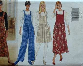 Uncut 1990s Butterick Vintage Sewing Pattern 4628, Size XS-S-M; Misses' Jumper, Jumpsuit, and Top