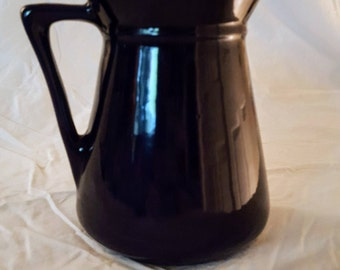 Vintage Deep Cobalt Blue Ceramic Pitcher -Unmarked