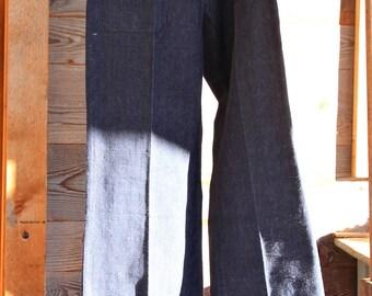 Vintage pants from 70's jeans Flare Pants vintage plain blue