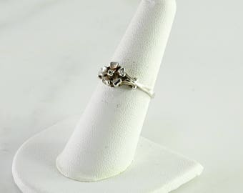 Sterling Flower Ring Size 7