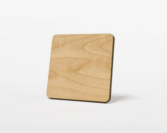 Blank Sublimation Ready Wood Coasters - Real Maple Hard Wood