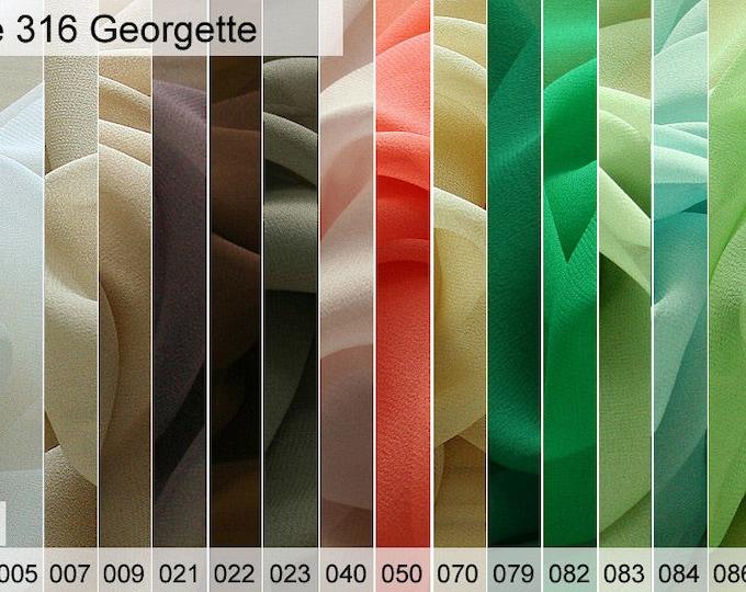 316 georgette sample of 6 x 10 CM