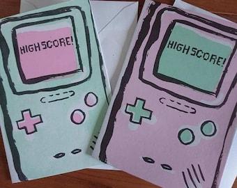 Highscore! Gameboy Congratulations card