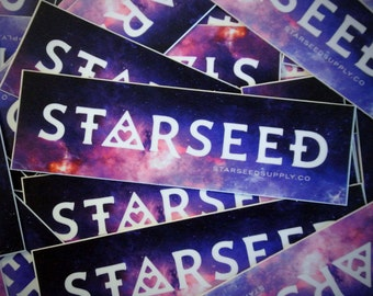 "Starseed Sticker - Esoteric and Metaphysical Accessory - 5"" Weatherproof Sticker - New Age, Crystal, Indigo, Rainbow Children"
