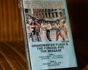 Grandmaster Flash and the Furious 5 Cassette Tape The Message Vintage Old School Cassette Boombox Ghetto Blaster Sugarhill Gang for Radio