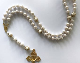 Ivory Pearl Rosary