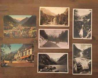 Postcard vintage Cauteret France Antique gift idea birthday christmas