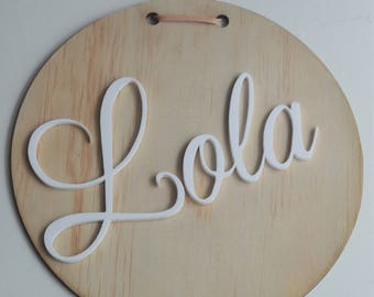 Wall name disc / hanging / decor / kids room
