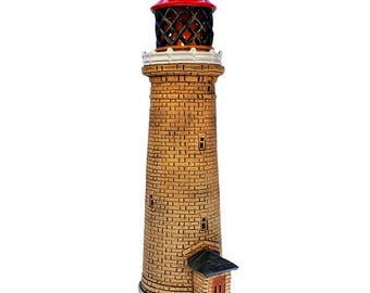 Handmade ceramic lighthouse candle holder - Fornaes