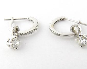 Vintage 14 Karat White Gold Diamond Earrings #1956