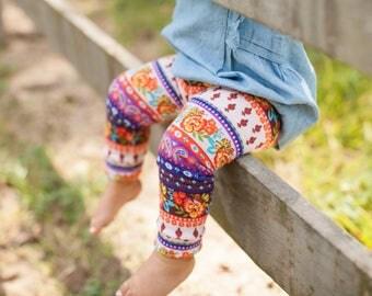 Boho Hippy Floral Leggings for Baby, Toddler & Girls