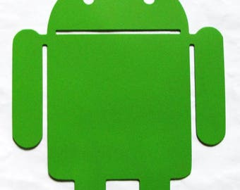 Android green metal Google Mobile Operating System Robot Droid Verizon App Metal Droid wall art Green Android