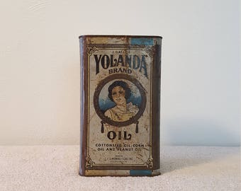 Yolanda Brand 1 Gallon Cooking Oil Tin