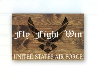 US Air Force Rustic Painted Wood Sign - US Air Force - US Air Force Gift - Gift for Soldier - United States Air Force Decor - Wall Decor