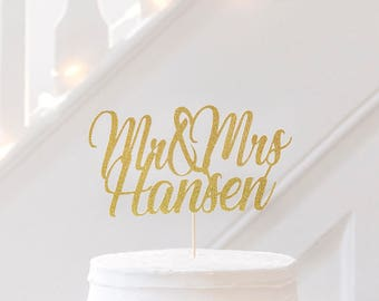 WEDDING CAKE TOPPER. Mr & Mrs Surname Cake Decoration.Getting Married Decoration.Wedding cake decorations.Wedding Party Cake.Bride and groom