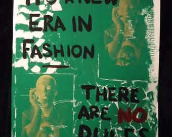 McQueen Quote Screen Printed Poster