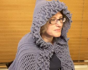 Dragon scale hooded shawl