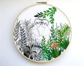 """Embroidery art """"Love makes life colorful"""" / Embroidery hoop art / Gay art"""