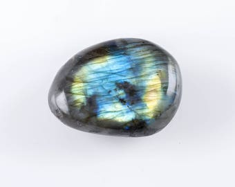 One Medium LABRADORITE Freeform Tumbled Stone - Polished Labradorite Stone, Natural Labradorite Crystal, Pocket Stone, Healing Crystal E0710