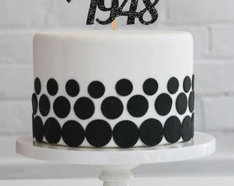 Cake topper fifty cake topper 50th birthday cake topper