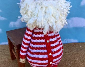 Santa Doll Crocheted Santa Claus Santa Plush Doll Santa Decoration Christmas Decor