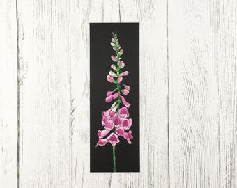 Floral Bookmark / Mothers Day Gift / Gift For Book Lover / Gifts for Her / Foxglove Design / Easter Gift/ Flower Bookmark