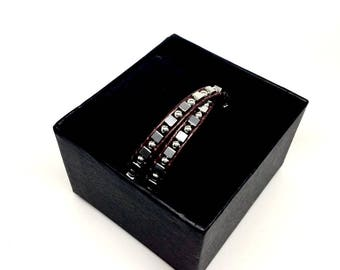 Women's jewellery Italian Black and Brown Genuine Leather with Stainless Steel Bracelet. Gift box included - Gifts for Girls, Birthday gifts