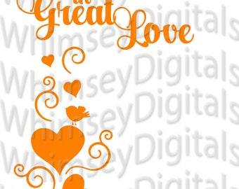 Small Things in Great Love Valentine Digital Download SVG Cut File, Vinyl Cutting Design, DIY KitchenAid Decal Design, Heart Wall Decor