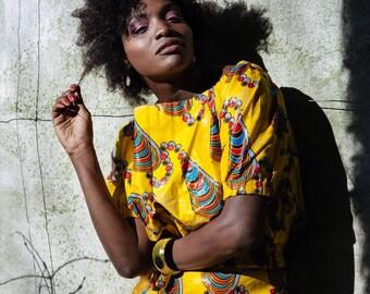 African Clothing African Print Bardot Top Ankara Top African Bardot Top Festival Top Summer Tee Wax Print Blouse Festival Outfit African Top