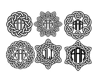 Celtic Personalized Monogram Vinyl Decal