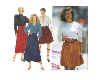 Simplicity 8069, 90s sewing pattern, size 24 women's skirt pattern, pleated skirt, midi skirt, fall skirt