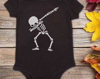 Dabbing Skeleton - Halloween Onesie